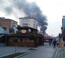 Пожежа на базарі в Кам'янці 25 вересня.