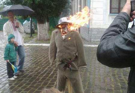 В Кам'янці спалили х#йло