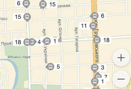 Яндекс покаже рух маршруток  Кам'янця