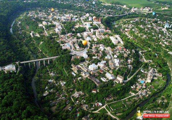 Старе місто з кулі » Кам`янець-Подільський