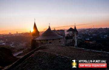 Схід сонця в Кам'янці-Подільському