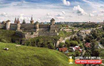 Пейзаж на Стару фортецю в Кам'янці